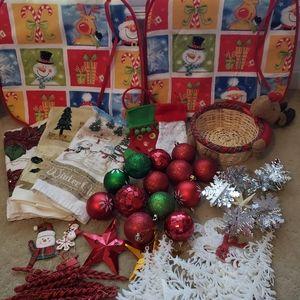 Christmas Decoration Ornaments, etc Lot